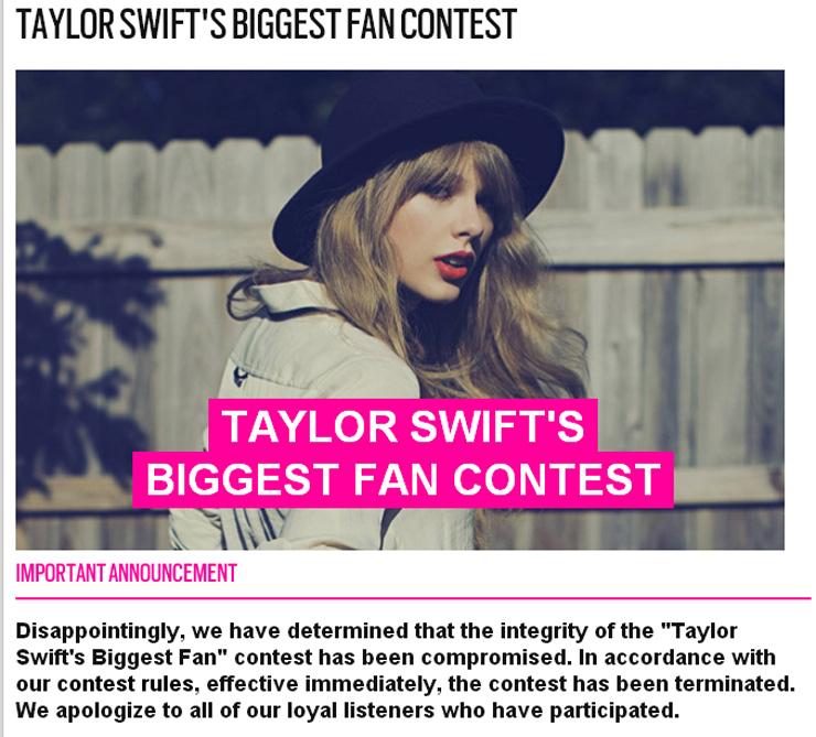 Taylorswiftcontest
