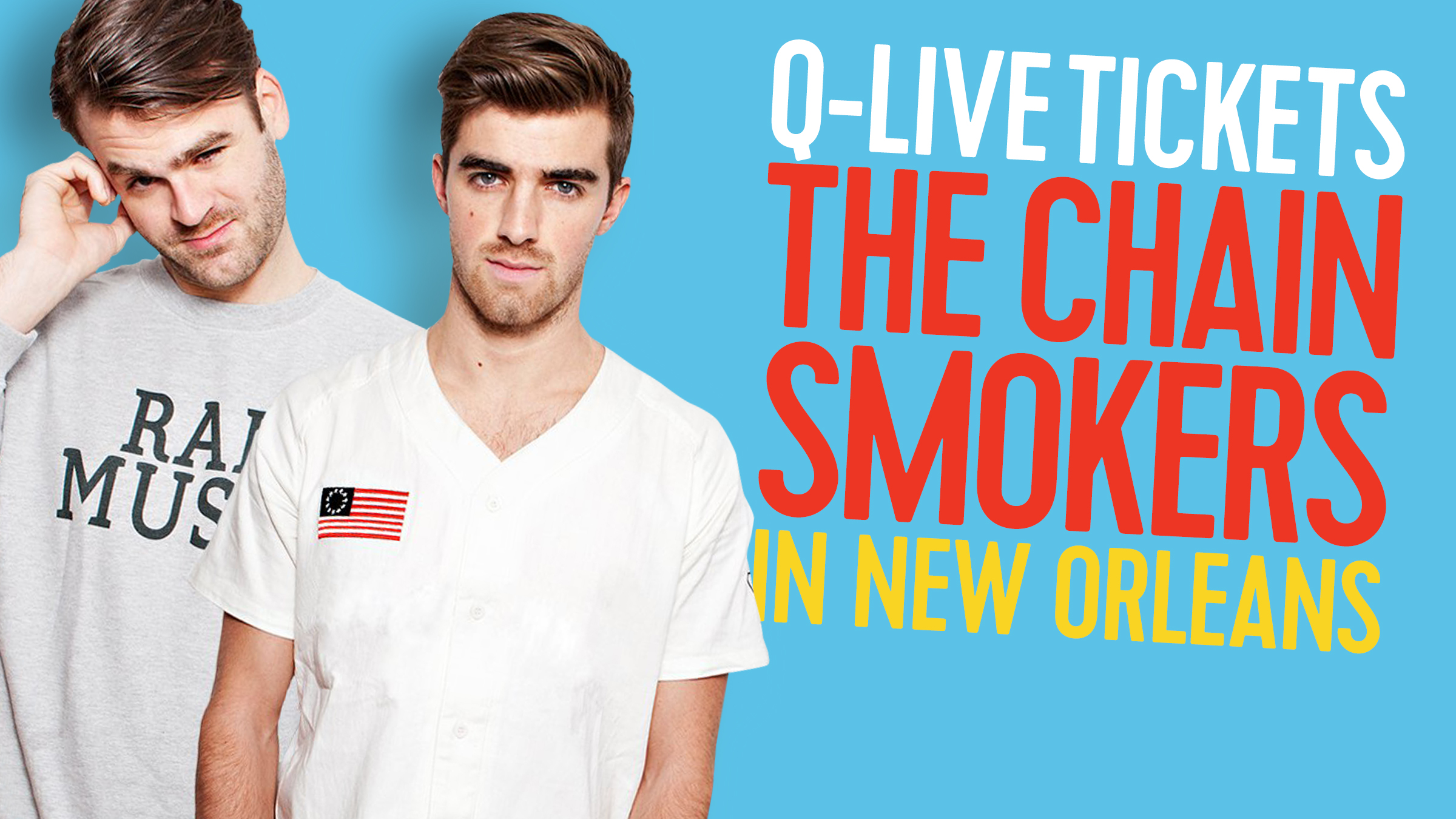 Qmusic teaser chainsmokers2