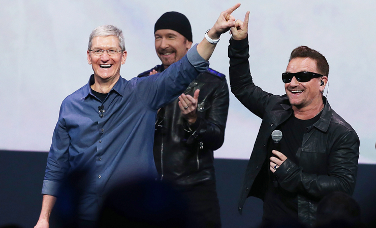 U2 apple event
