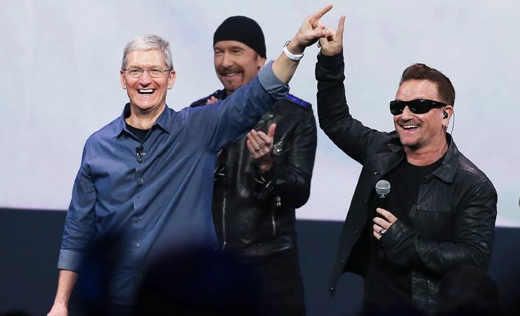 U2 apple event