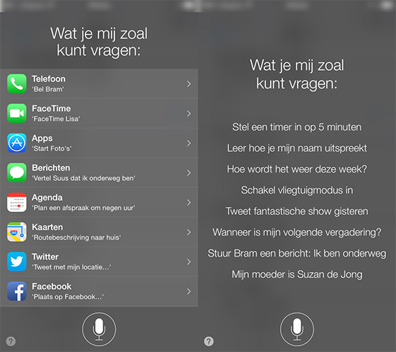 Siri nederlands