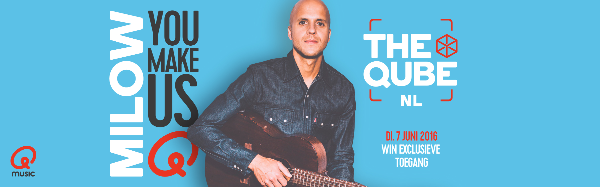 Qmusic actionheader milow