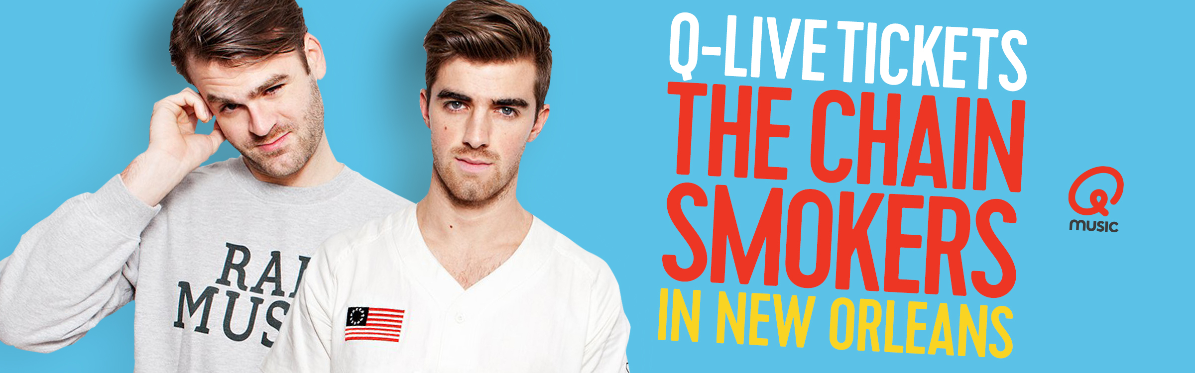Qmusic actionheader chainsmokers2