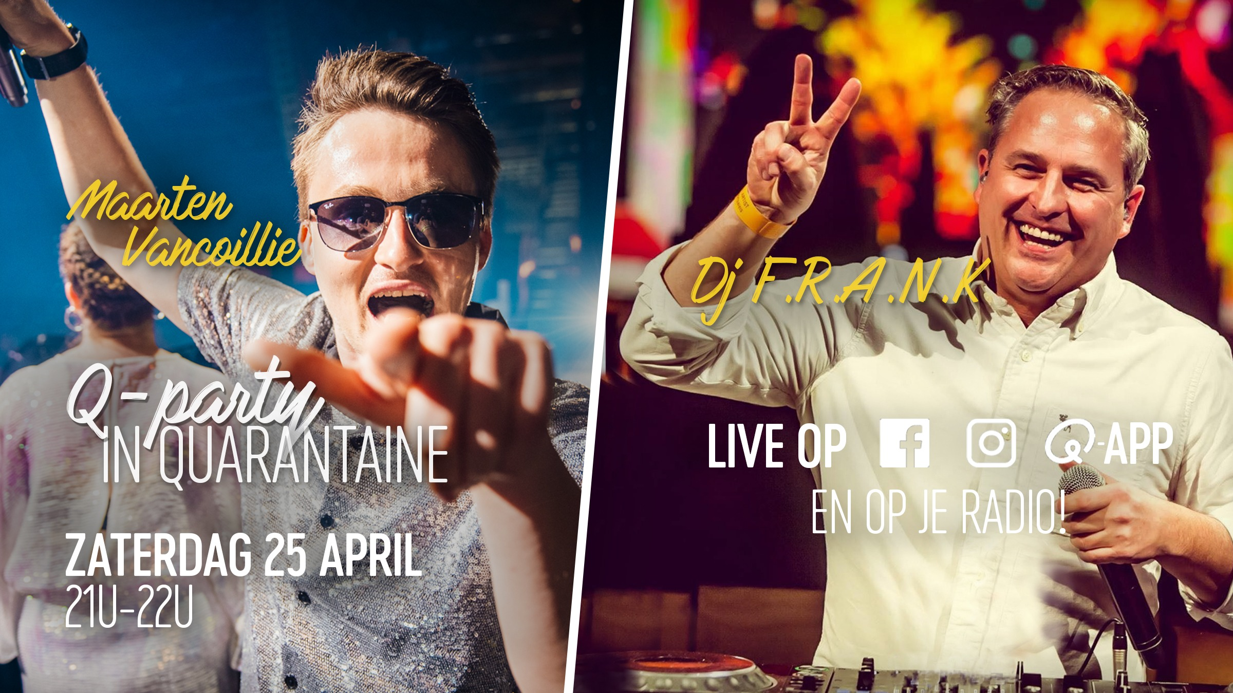 Website   q party quarantaine 25 april