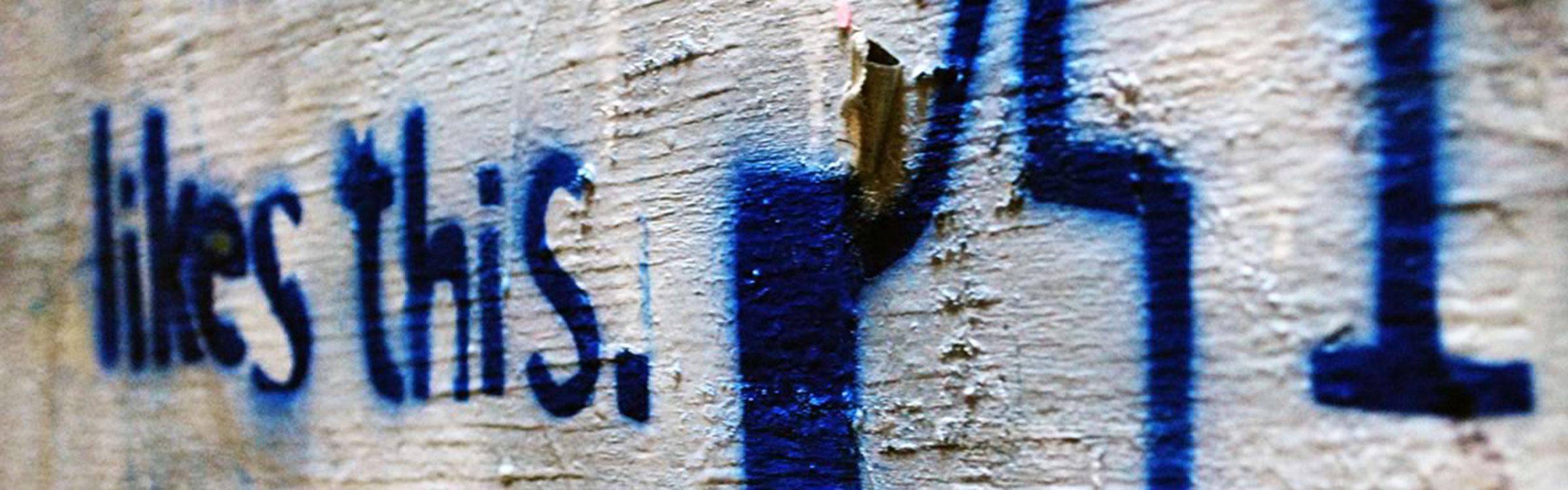 Facebook graffiti