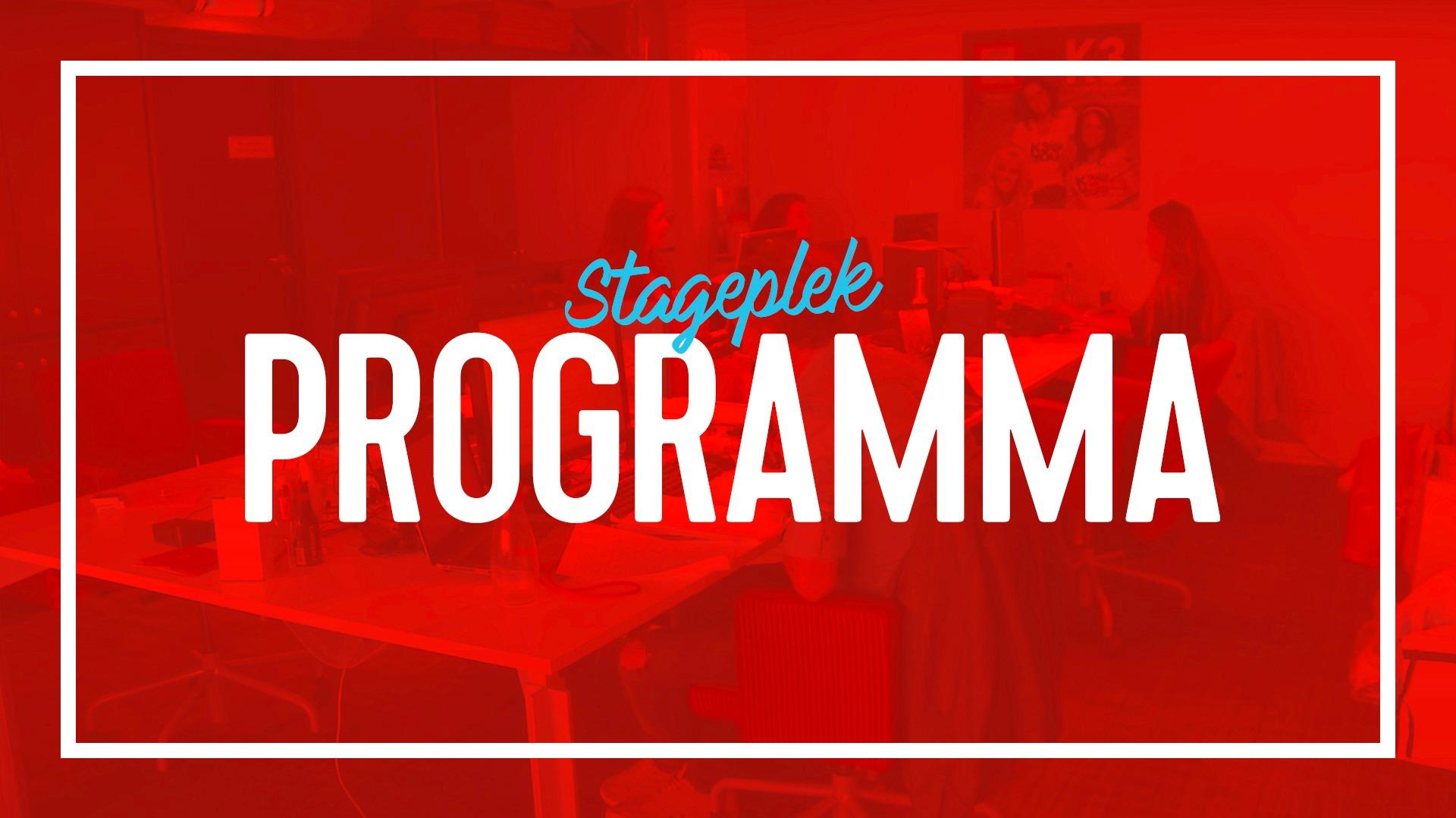 Stageplekken programma