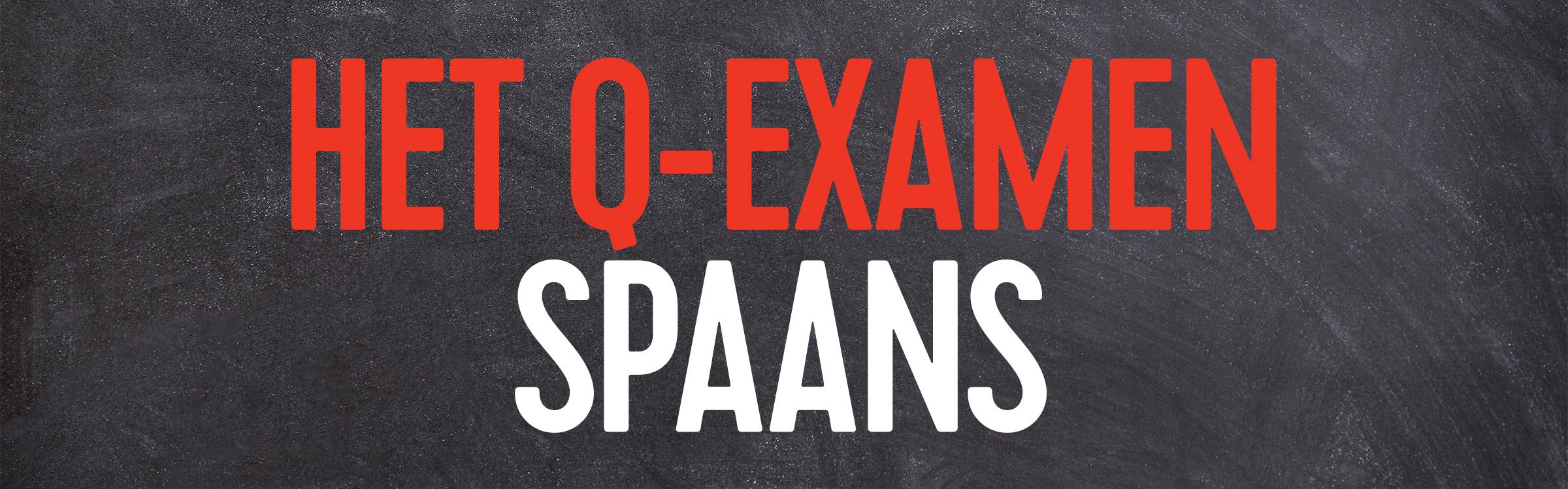 Q examen spaans header