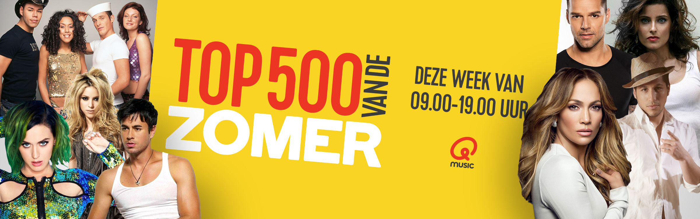 Qmusic actionheader top500zomer dezeweek