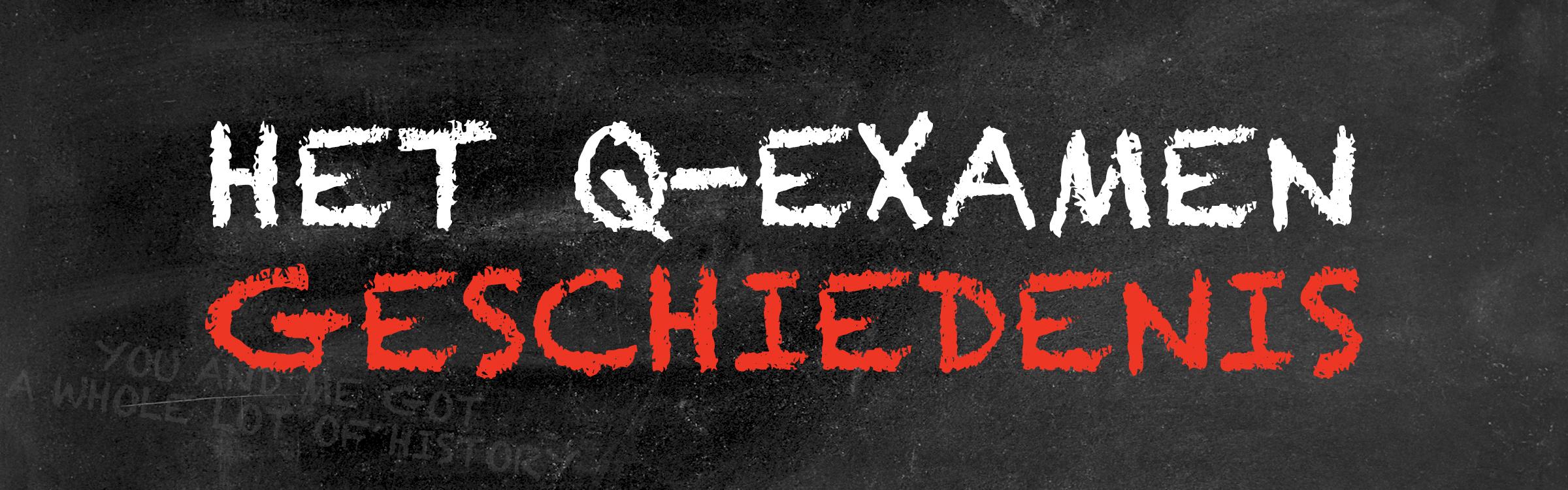 Qexamen geschiedenis header