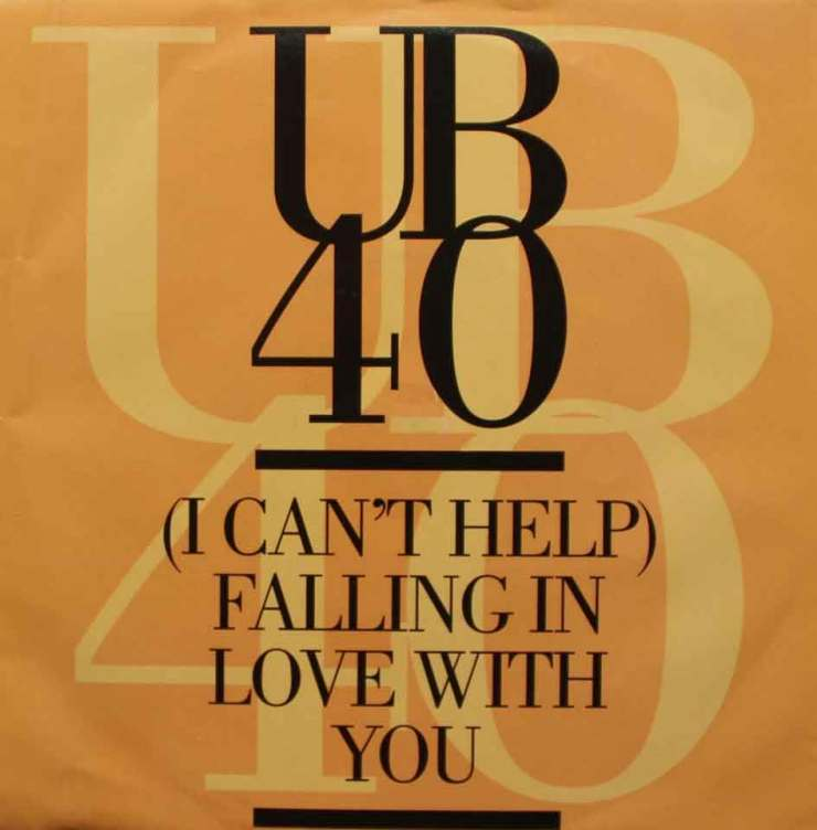 Ub 40 i can help falling in love with you sleeve 80s