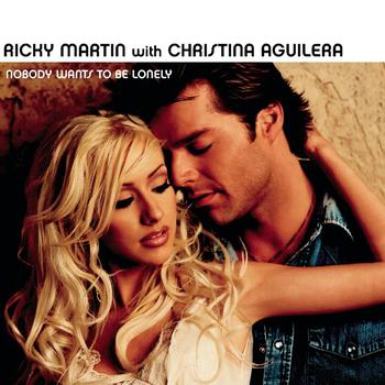 Ricky martin with christina aguilera