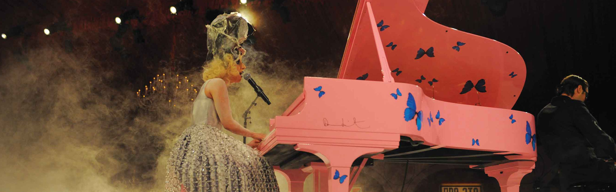 Lady gaga piano header