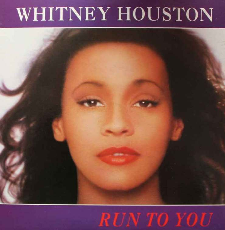 Whitney houston run to you sleeve 80s