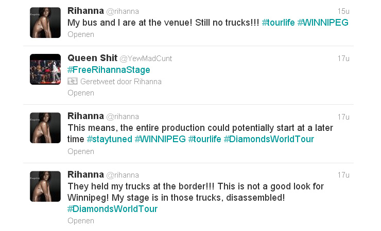 Rihanna tweets 0