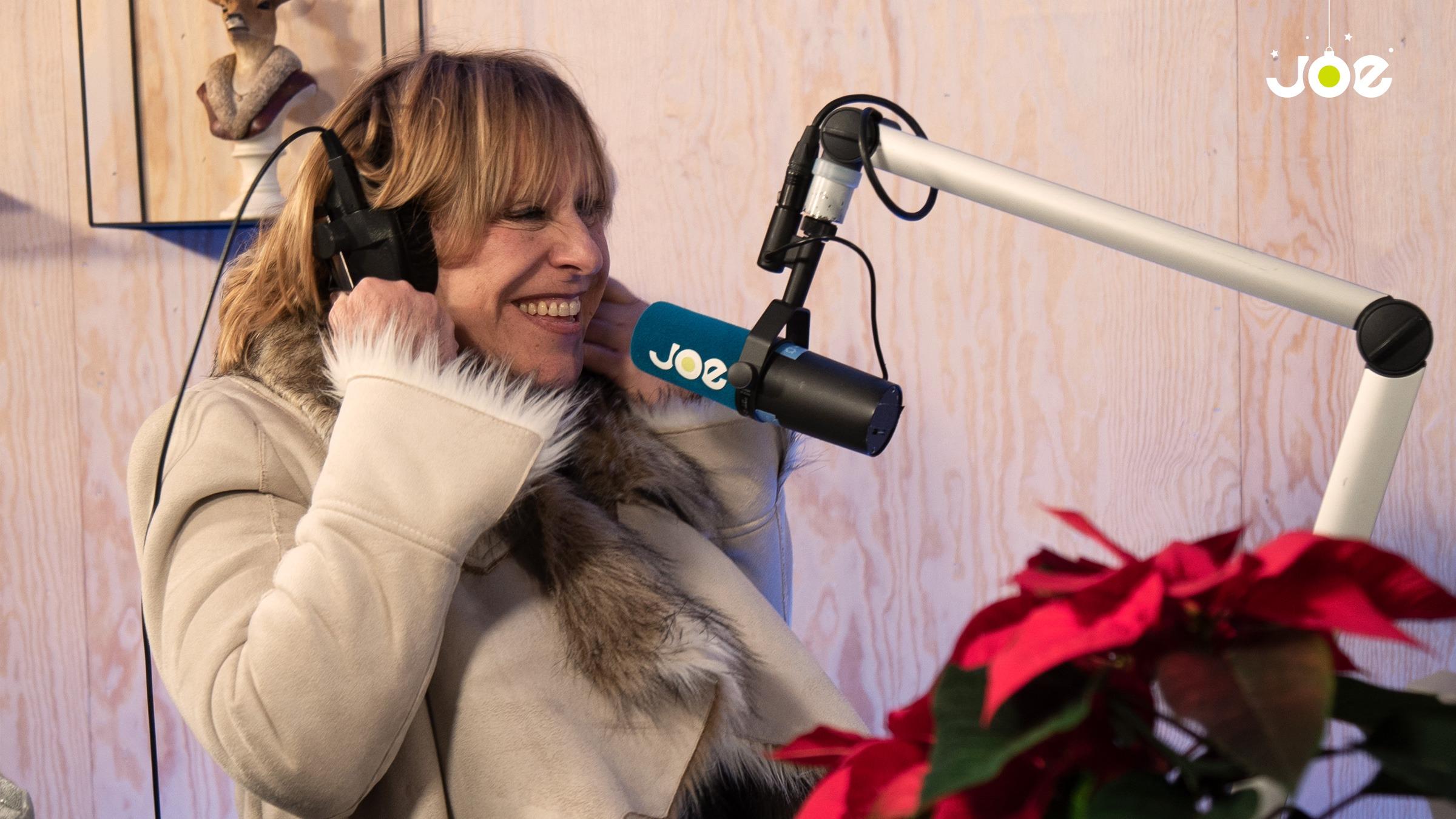Sofie aan mic