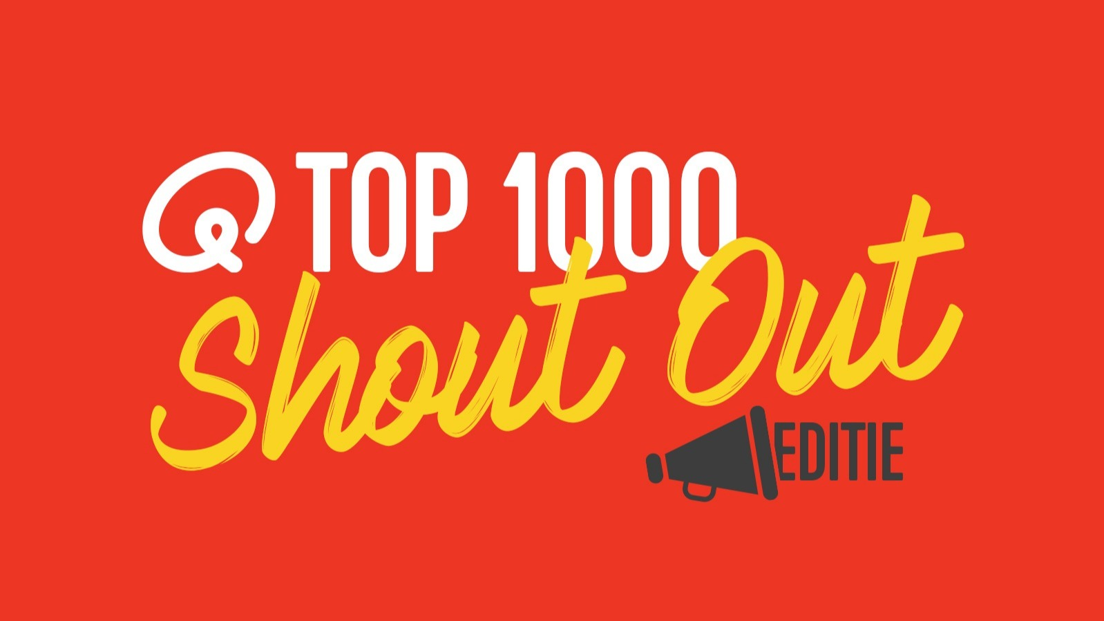 Top1000 shout out rood