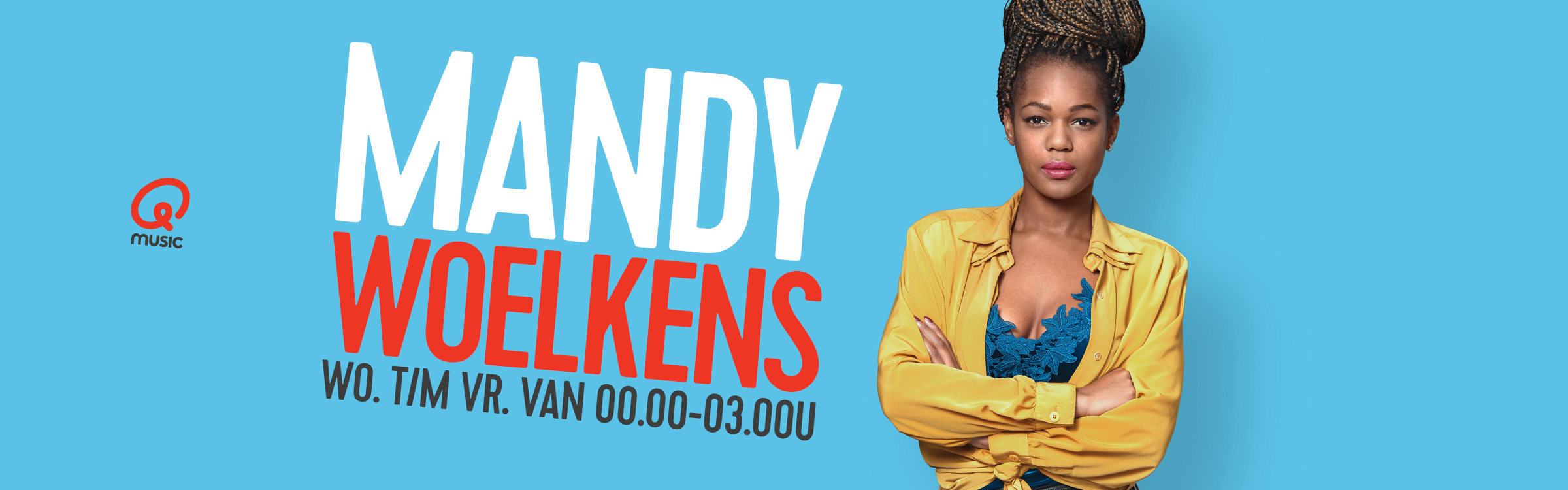 Qmusic actionheader mandy