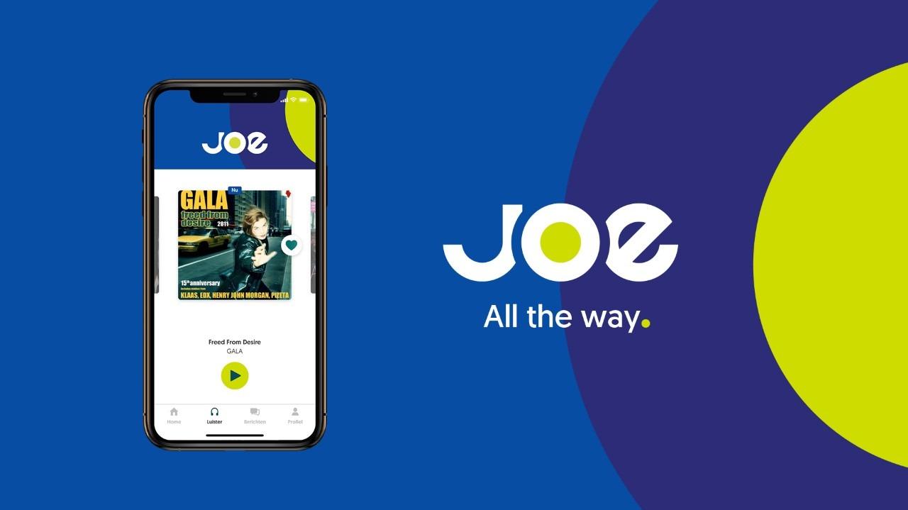 Joe app header