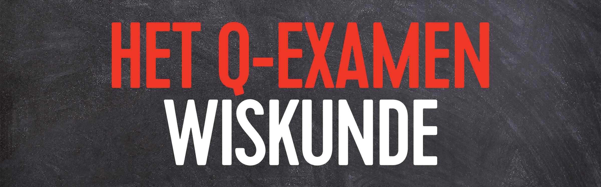 Q examen wiskunde header