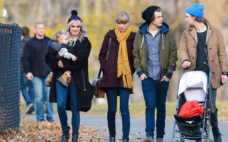 Taylor swift harry styles central park 6