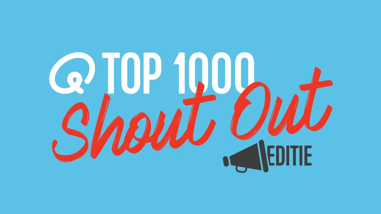Top1000 shout out blauw