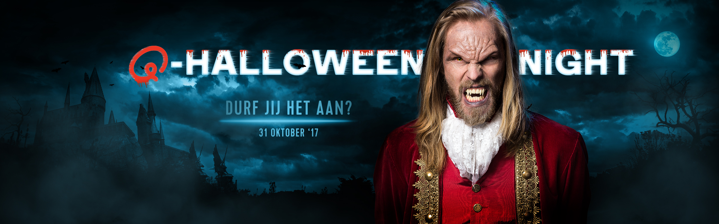 Qmusic actionheader halloween
