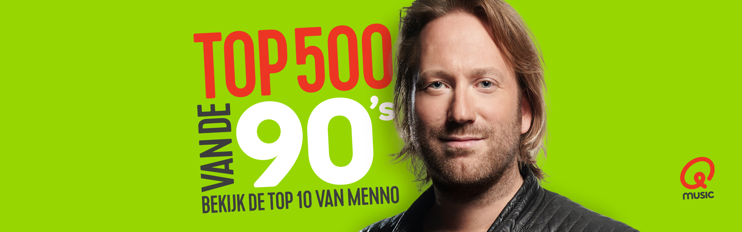 Qmusic actionheader 90s dj menno