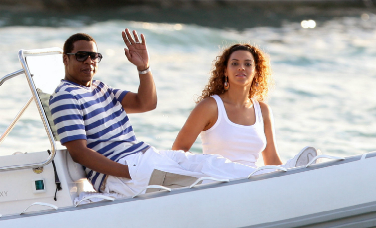 Beyonce and jay z visit st barts