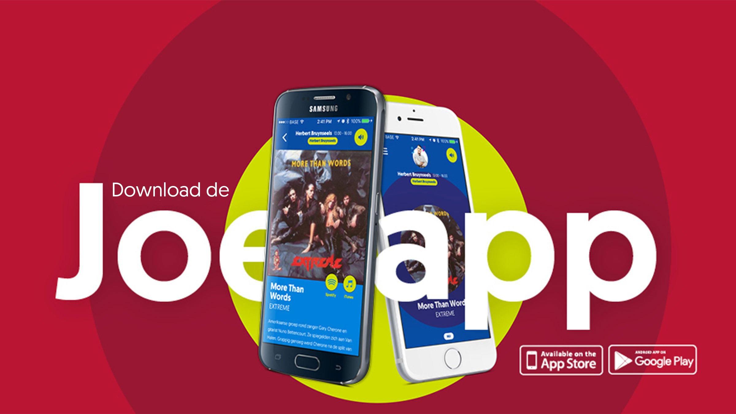Joe app header download