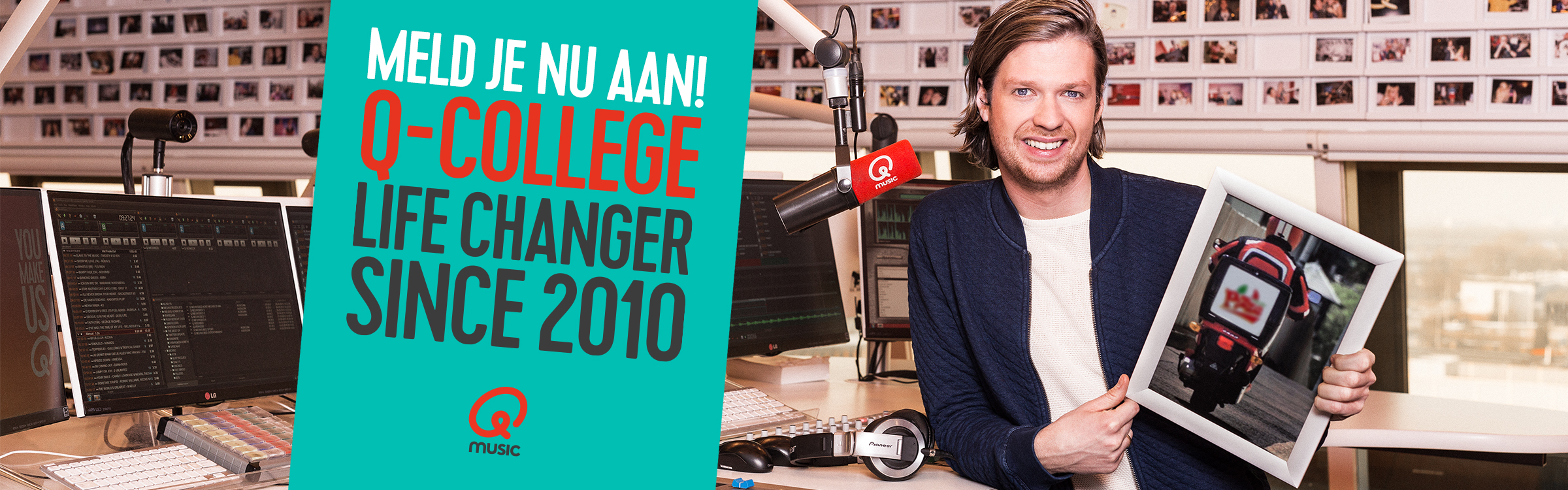 Qmusic actionheader q college