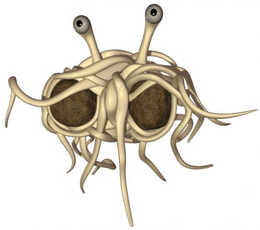 Flying spaghetti monster alone