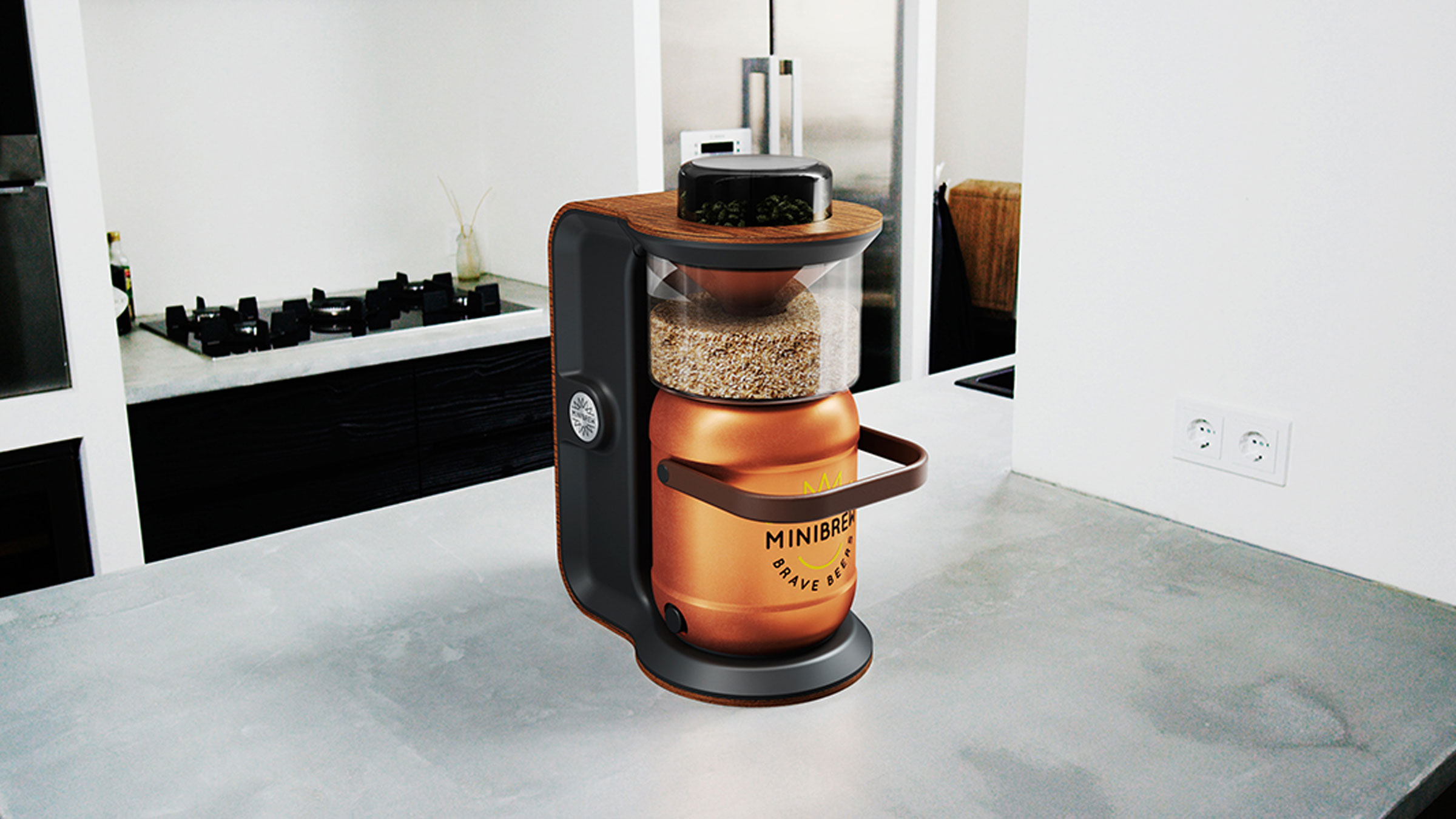 Minibrew hardware kitchen angle