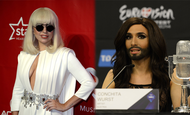 Lady gaga conchita wurst