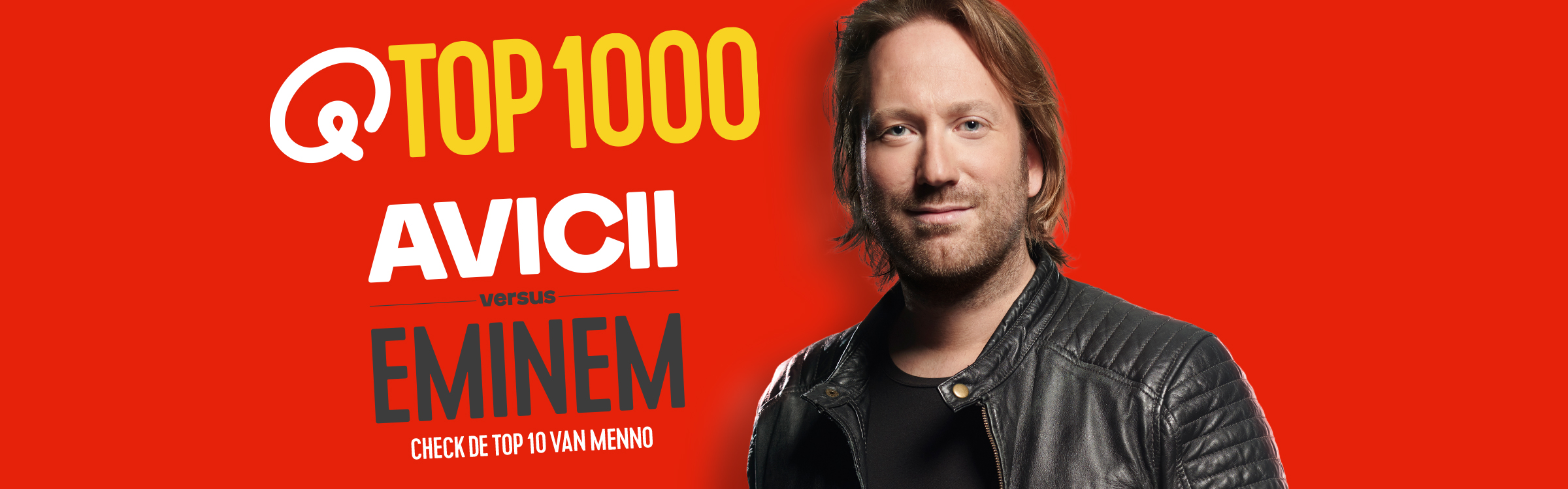 Qmusic actionheader top1000 djs menno