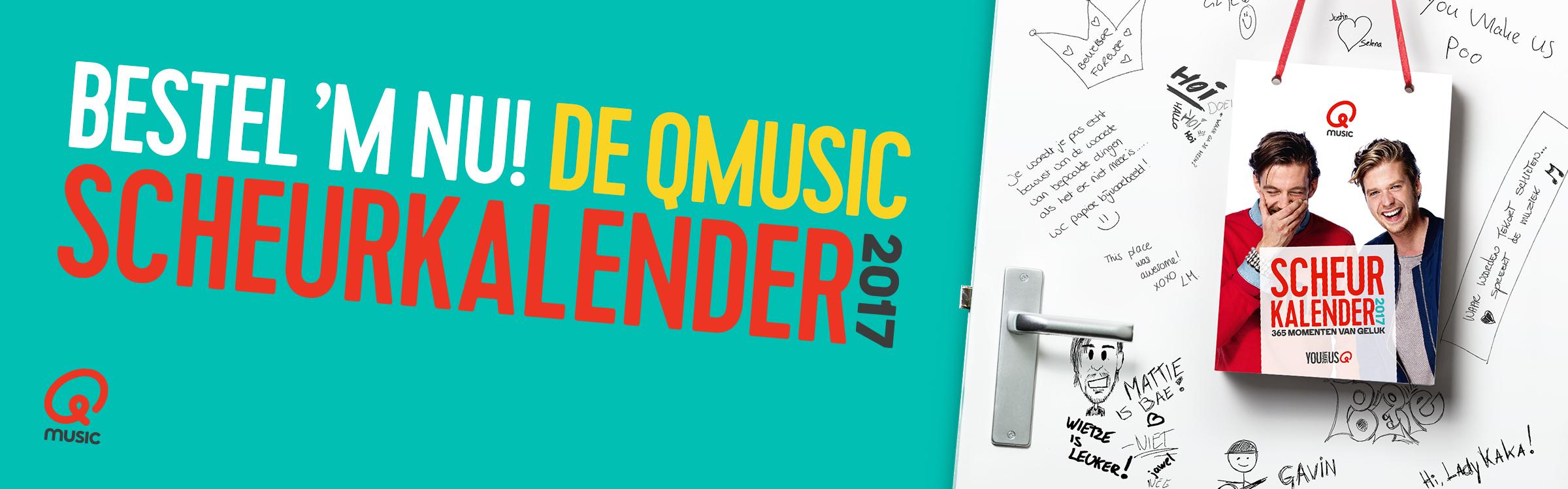 Qmusic actionheader scheurkalender2017