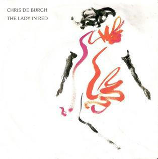 Chris de burgh the lady in red single cover