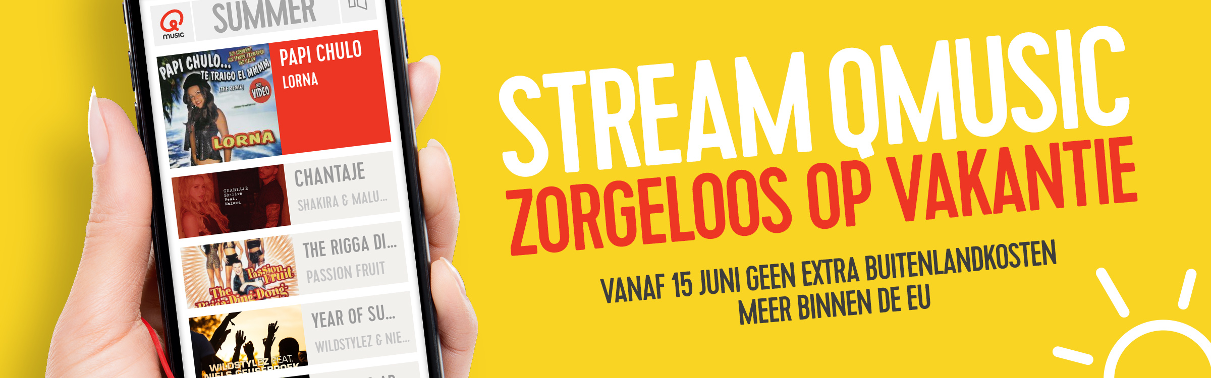 Qmusic actionheader zomerstreamen