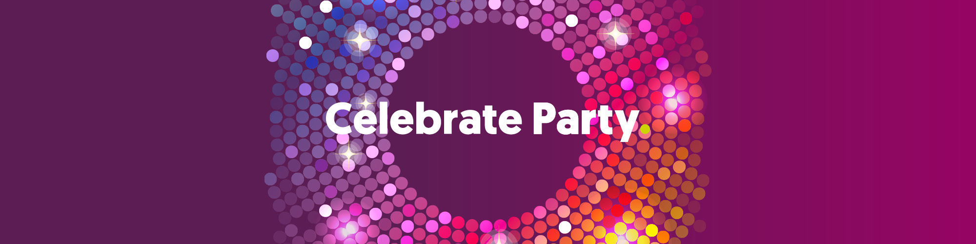 Celebrate party 2000x500