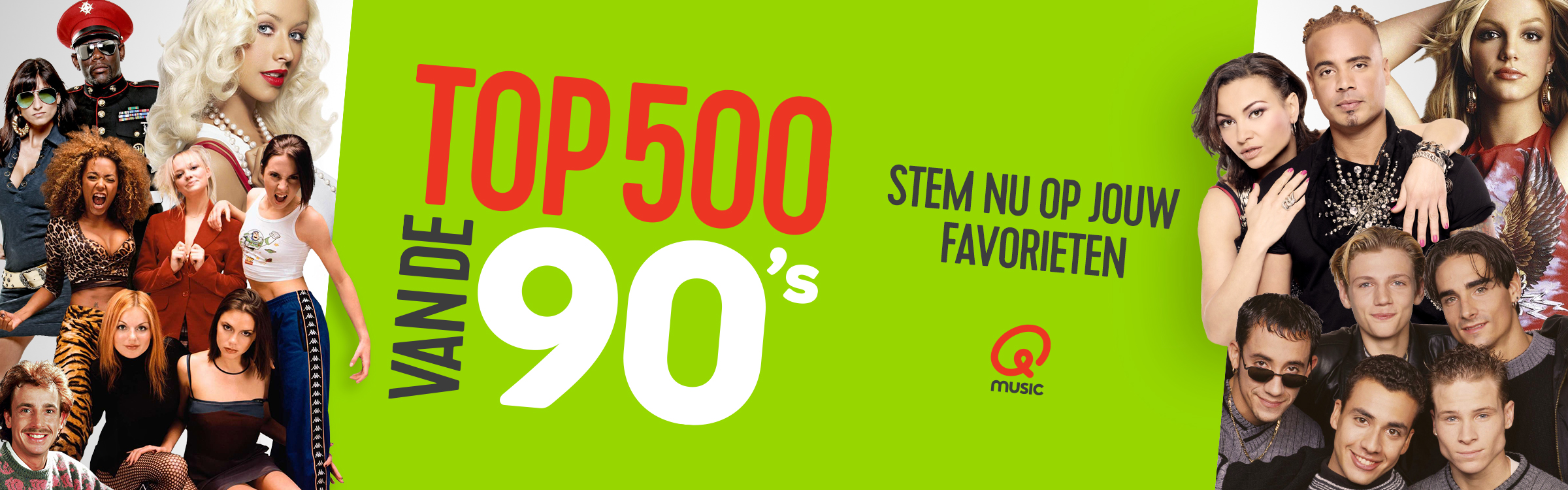 Qmusic actionheader top500 90s