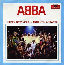 Abba happy new year polydor 2 s