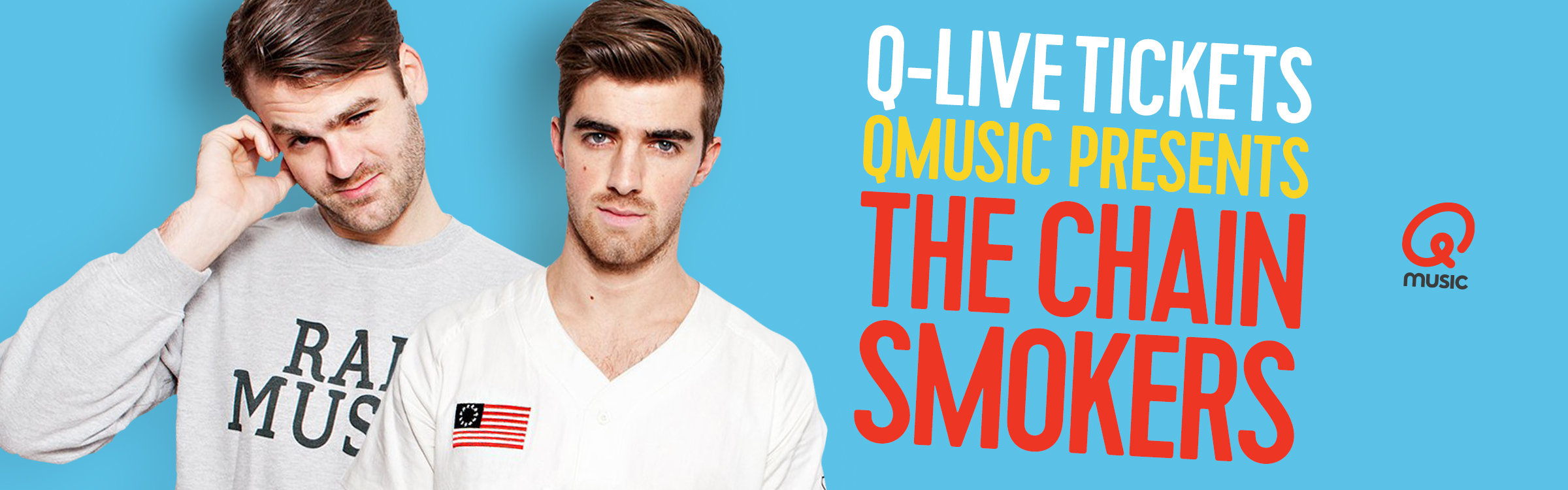 Qmusic actionheader chainsmokers