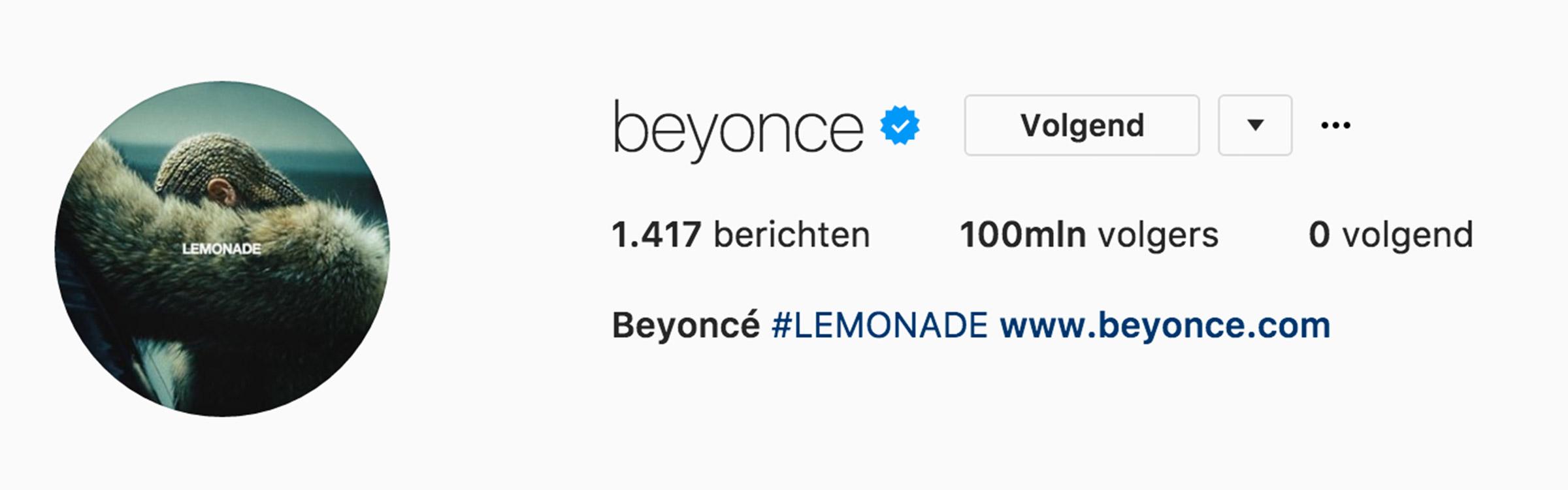 Beyonce insta header